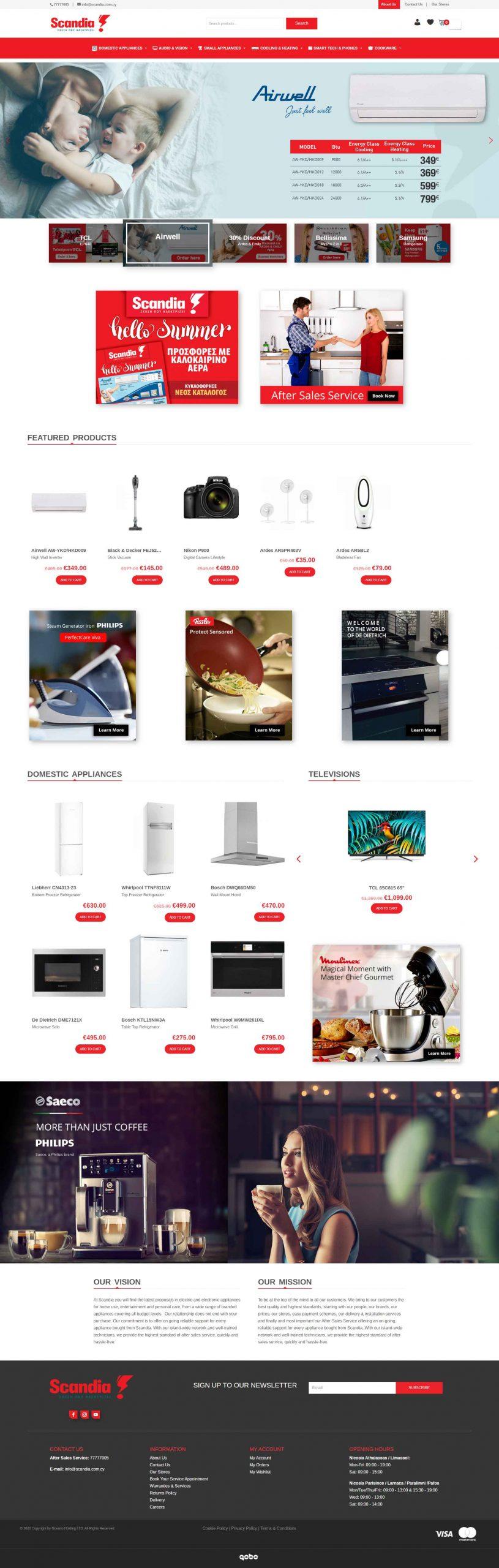 Scandia e-commerce store design