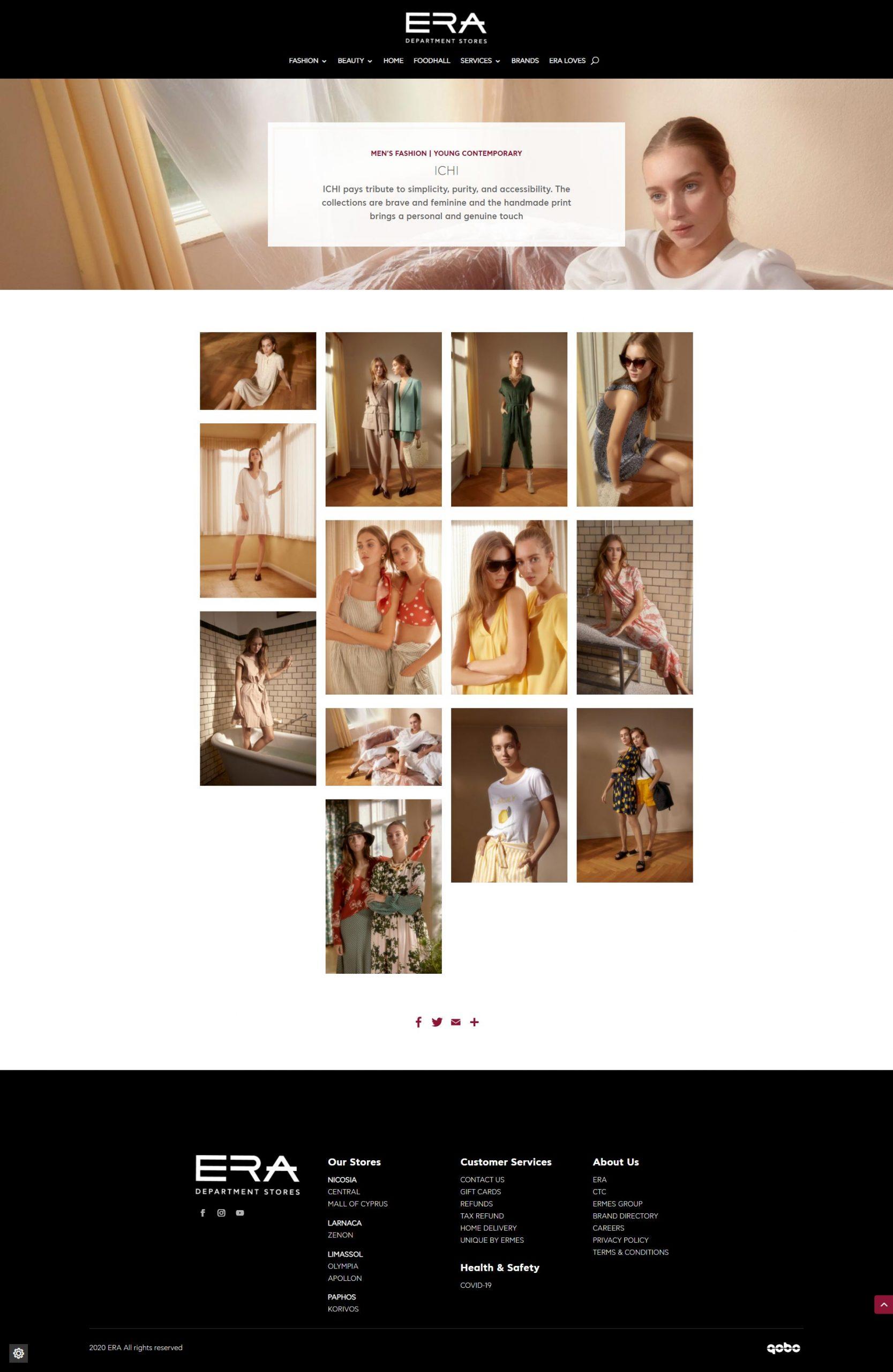 ERA Cyprus Website Design focused on aesthetics and editorial theme