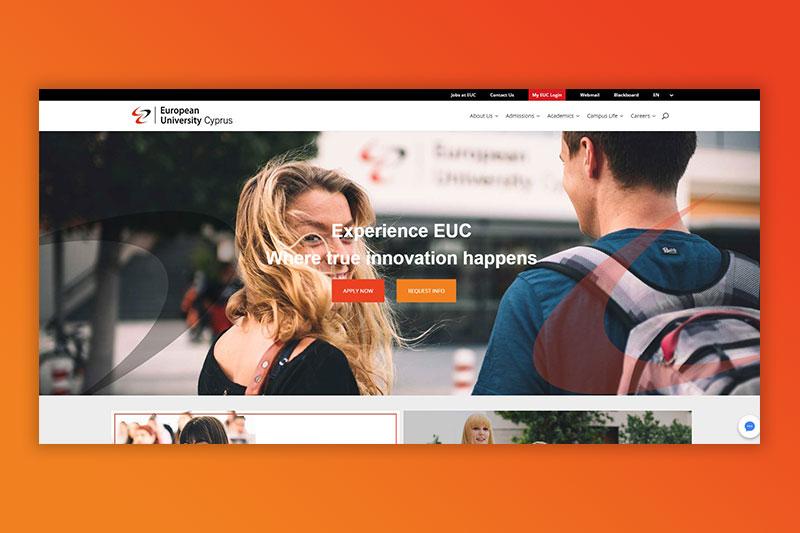 Innovative website redesign for European University Cyprus